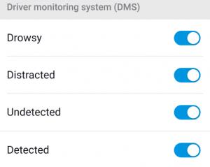 DMS notification on blackvue app