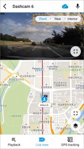camera orientation on blackvue app