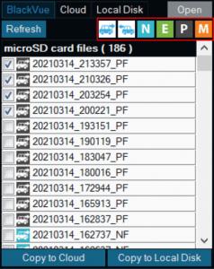 filter files on file list