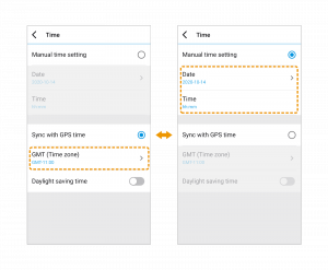 firmware basic time setting on blackvue app