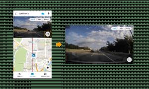 landscape view on blackvue app