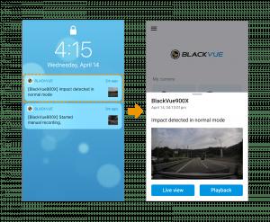 push notification on mobile on blackvue app