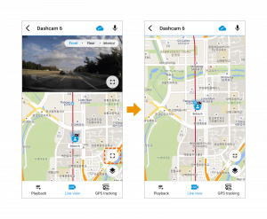 vehicle tracking map on blackvue app